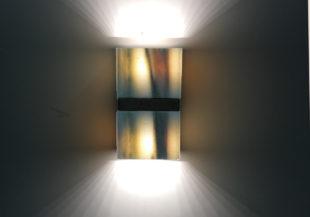 LED-Wandleuchte aus Naturstein
